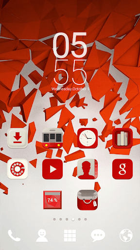 Powerful RED dodol theme