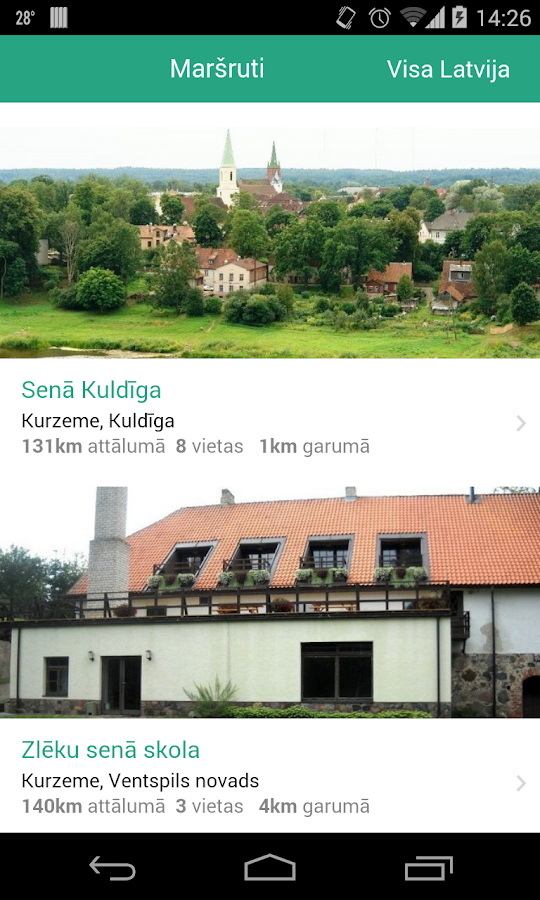 Letonika Ceļo- screenshot
