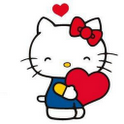 Hello Kitty Red Heart Clock icon