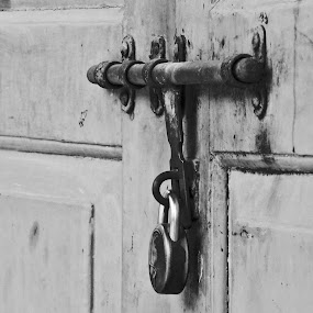 A Lock speaks evrything by Mukesh Mishra - Artistic Objects Signs ( lock church time door no one )