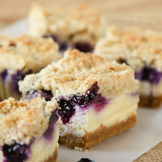 Blueberry Crumble Cheesecake Bars.