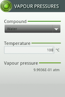 Vapour Pressures- screenshot thumbnail