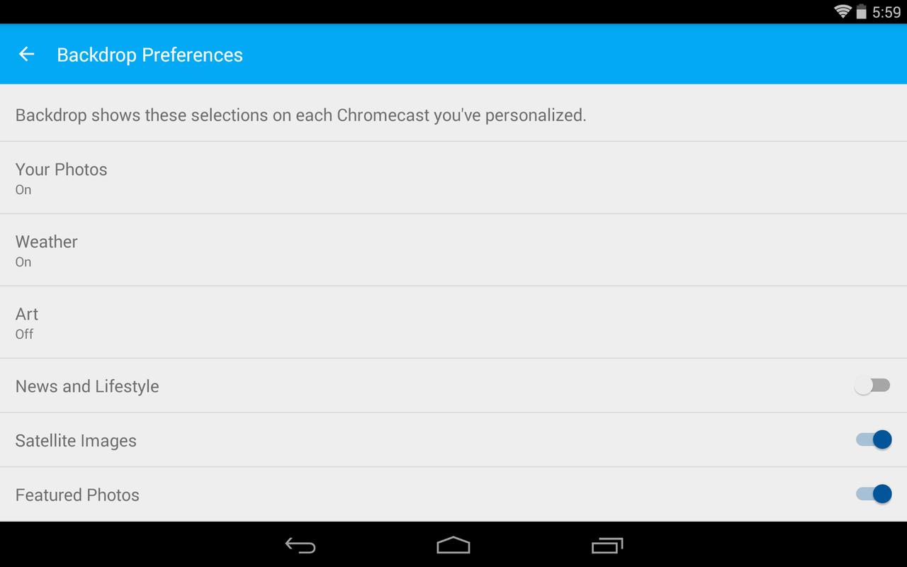 Chromecast - screenshot