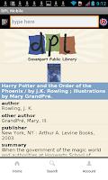 Screenshot of Davenport Public Library