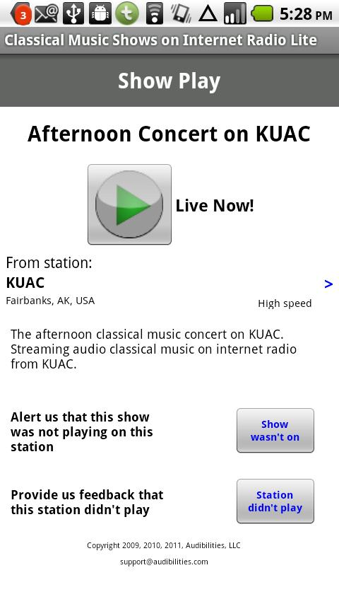 Classical Music Radio Lite - screenshot