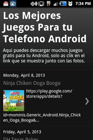 Juegos de android gratis