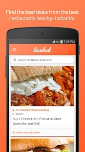 LiveDeal - Restaurant Deals- screenshot thumbnail