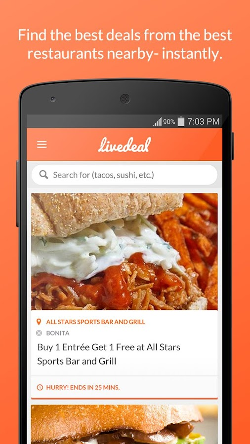 LiveDeal - Restaurant Deals - screenshot