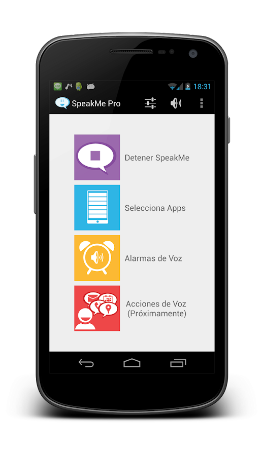 SpeakMe Pro- screenshot