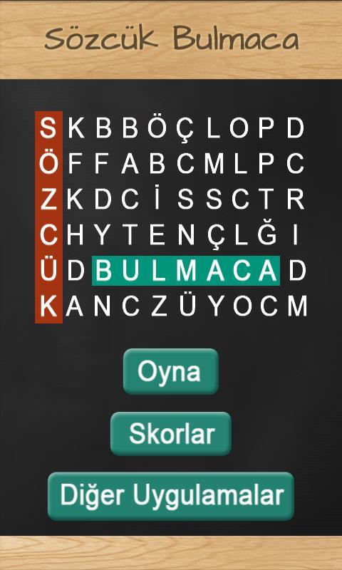 Sözcük Bulmaca- screenshot