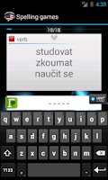 Screenshot of English-Czech Vocabulary FREE