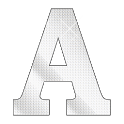 Diamond letter A sticker icon