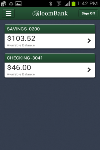 Bloomfield State Bank - screenshot