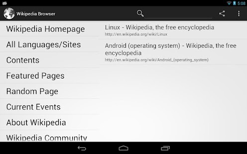 Tablet Browser for Wikipedia - screenshot thumbnail