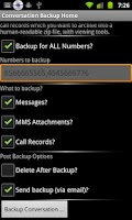 Screenshot of Conversation Backup
