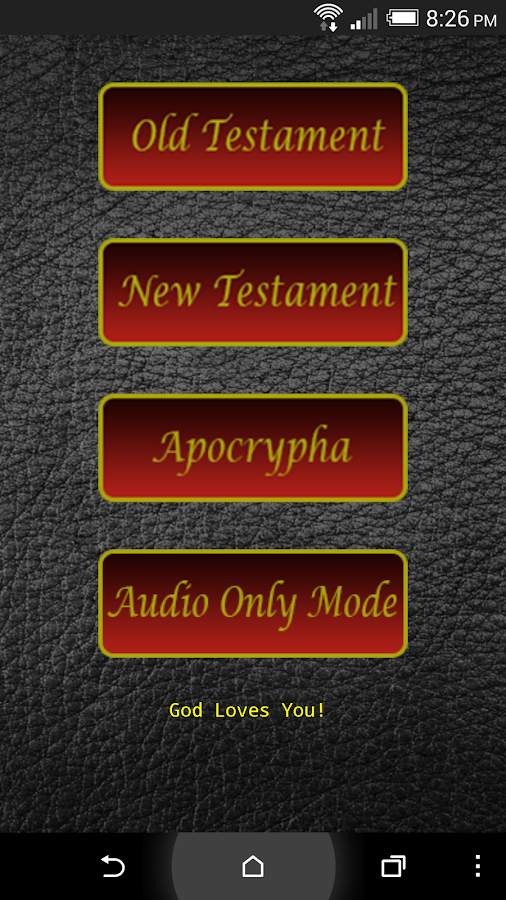 Audio Bible (KJV)- screenshot