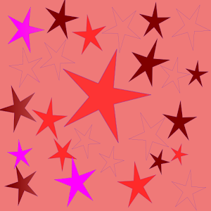 Panda Home Red Pink Stars for Android