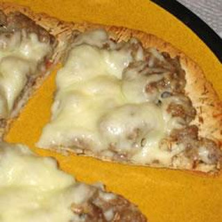 Sausage Alfredo Pizza