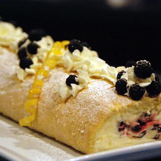 Luscious Lemon Cream Roll with Summer Berries