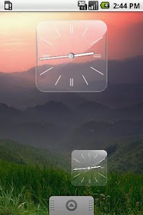 Glass Clock Widget 3 sizes - screenshot thumbnail