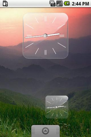 Glass Clock Widget 3 sizes - screenshot