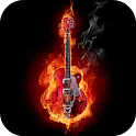 Fire and Guitar Live Wallpaper icon