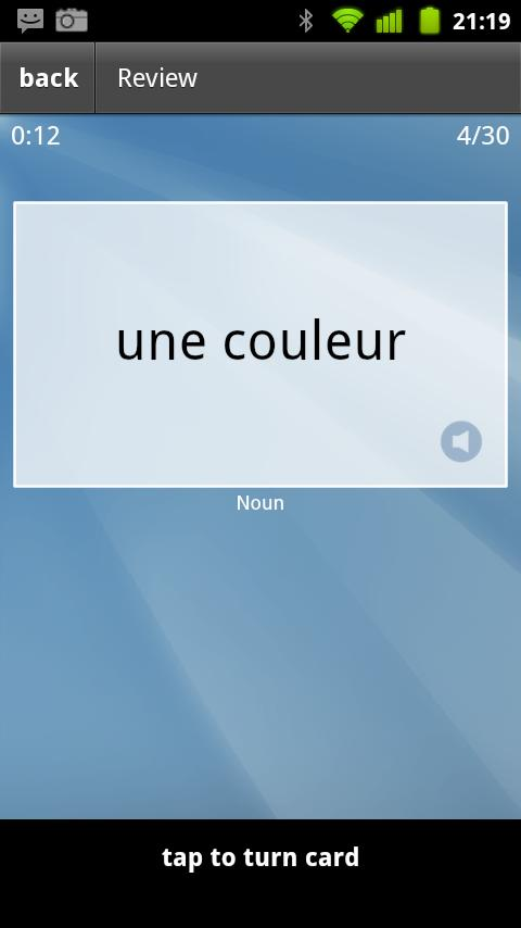 Learn French Flashcards- screenshot