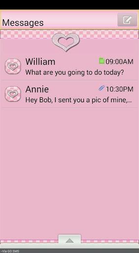 GO SMS THEME SparkleHearts1