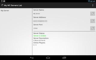 Screenshot of My MC Servers List