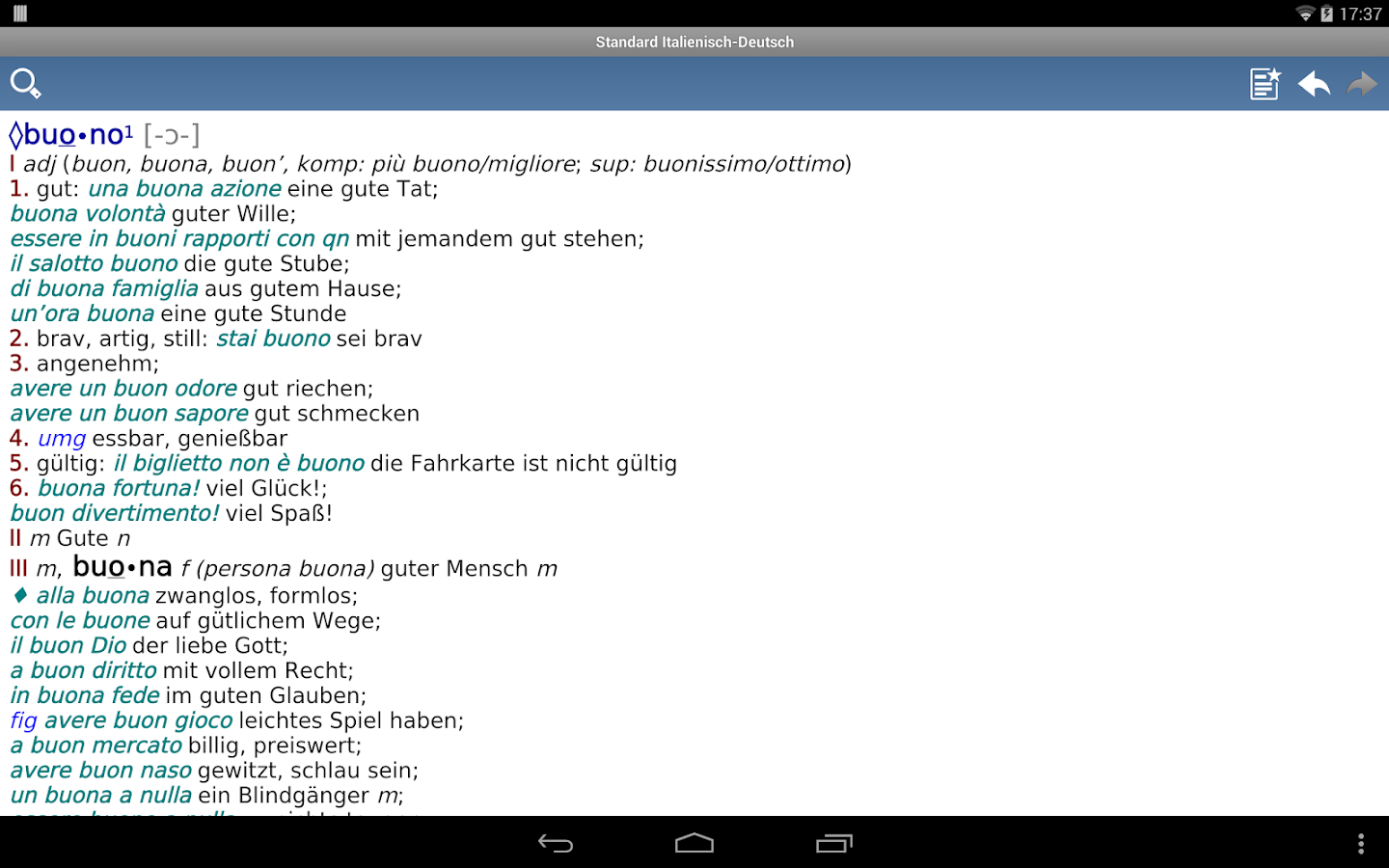 Italian - German Translator Dictionary Standard- screenshot