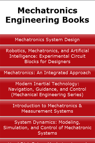 Mechatronics Engineering Books