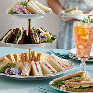 Orange and Cranberry Tea Sandwiches.