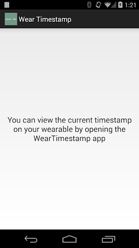 Wear Unix Timestamp