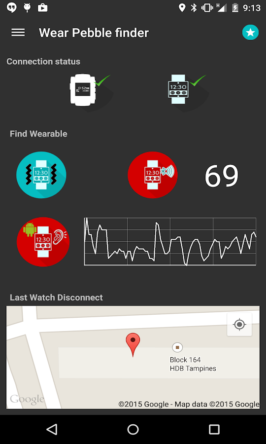 Wear pebble  finder / locator- screenshot