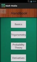 Screenshot of Math Mobile
