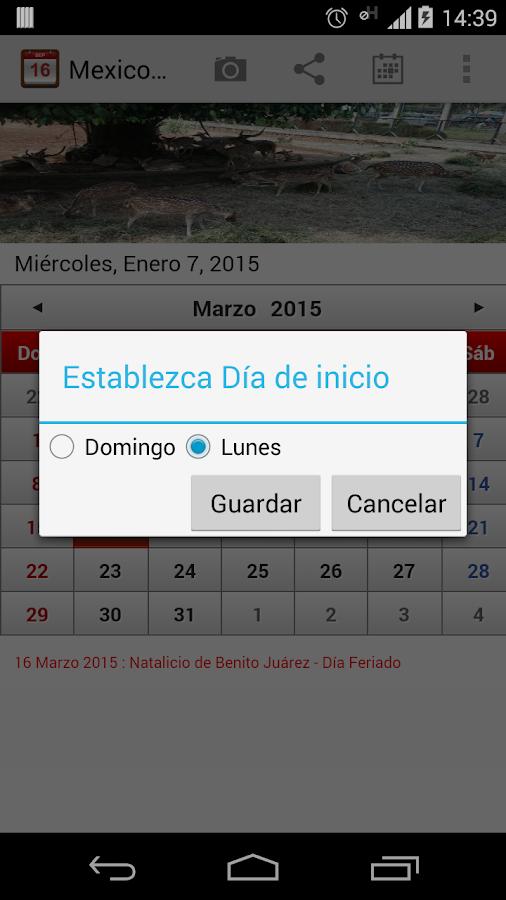 Mexico Calendario 2015 - screenshot