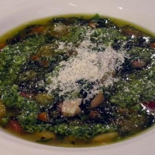 Spring Greens And Cannelloni Bean Broth