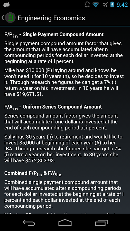 Engineering Economics- screenshot