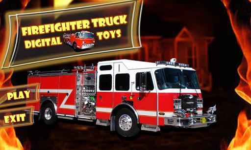 消防隊員卡車數碼玩具