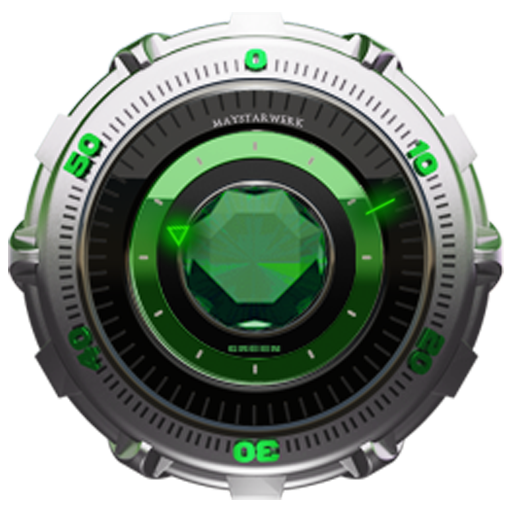 Clock Widget Green Diamond