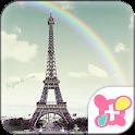 Cute Theme-Rainbow Eiffel- icon