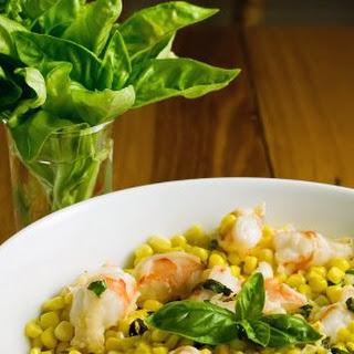 Shrimp with Corn and Basil