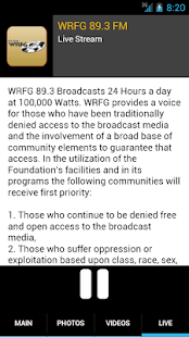 WRFG 89.3 FM - screenshot thumbnail