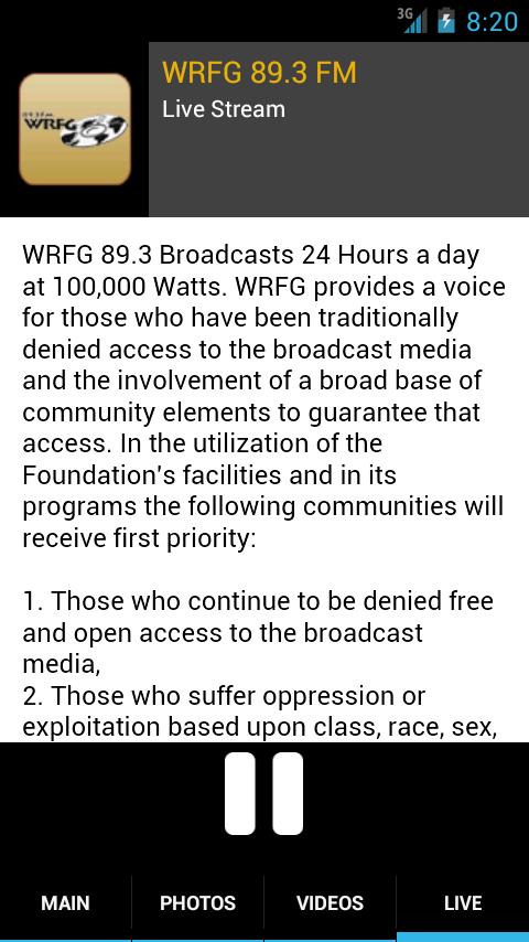 WRFG 89.3 FM - screenshot
