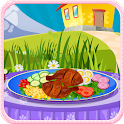Chicken salad cooking games icon