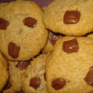 Whole White Wheat and Honey Chocolate Chip Cookies.