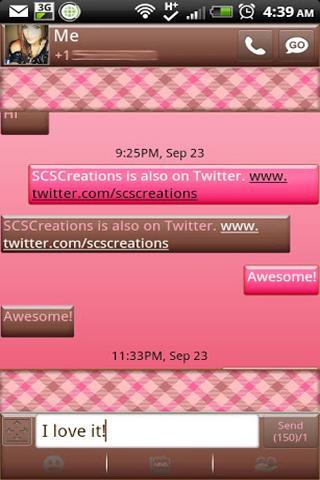 GO SMS THEME BlushingBrown