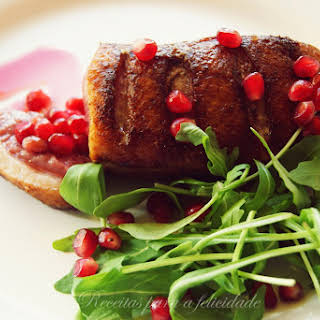 Duck Magret with Pomegranate.