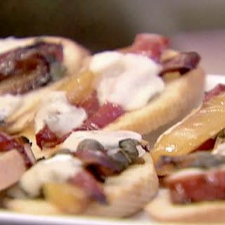 Bruschetta with Peppers and Gorgonzola Recipe