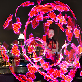 PLAY WITH LOVE  by Supriadi Lee - Abstract Light Painting ( love i light marina bay singapore 2014 )